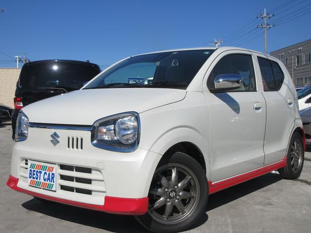 スズキ X 禁煙車 レッドフルエアロ セーフティサポート装着車 メッキメガネグリル メッキドアミラー オプショングレーバックドア LEDウィンカー 純正15インチAW ETC シートヒーター スマートキー 保証書