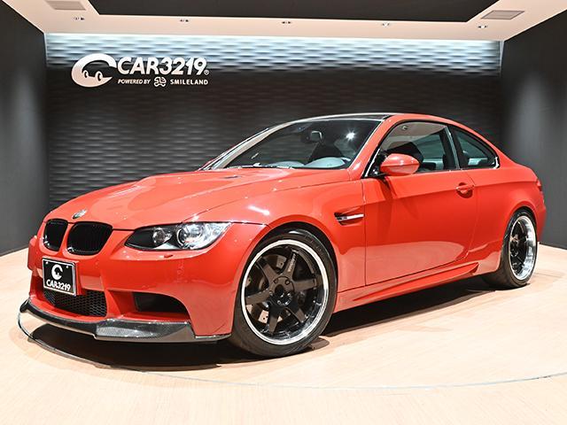 BMW M3 M3クーペ V8エンジン レイズ19インチアルミ Mドライブ 新品フロントリップ 新品デフィーザー カーボンルーフ 黒革電動シートヒーター付 6速MT 純正HDDナビ ミラー内蔵型ETC クルーズコントロール