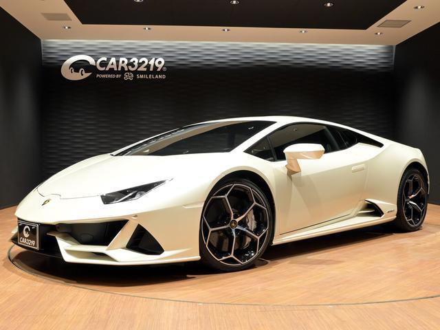 ランボルギーニ EVOクーペ オプションカラーBalloon White・OPエンジンボンネット・スタイルPKG・スマホコネクト・リアカメラ・20インチアルミ・リフティング・安心保証付き