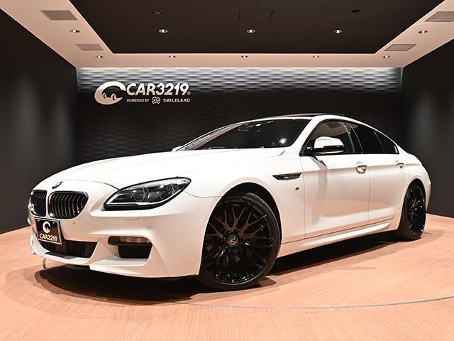 BMW 6シリーズ 640iグランクーペ Mスポーツ 後期モデル/衝突軽減ブレーキ/エナジーモーター20インチアルミ/サンルーフ/黒革パワーシート/シートヒーター/純正HDDナビ/レーンキープ/地デジフルセグテレビ/ブルートゥースオーディオ/DVD再生