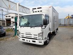 エルフトラックワイドロング中温冷凍車2.85t パワーゲート付 中温冷蔵車