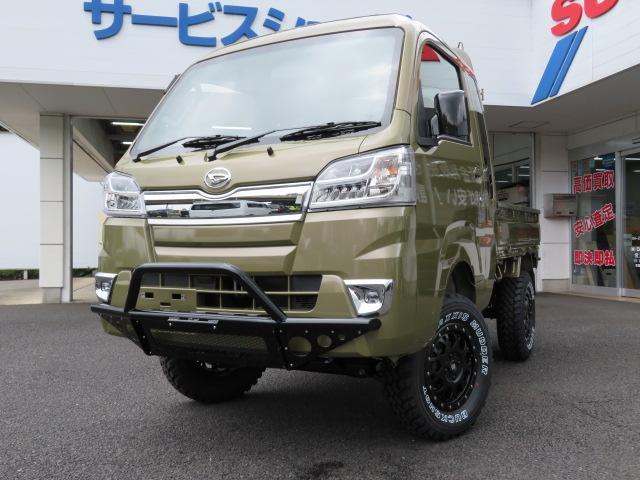 ダイハツ ハイゼットトラック ジャンボ4インチリフトアップ4WD MT LEDヘッド