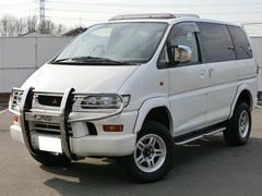 デリカスペースギアXR ツインサンルーフ 4WD JAOSフロントガード
