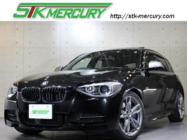 BMW 1シリーズ M135i サンルーフ 黒革シート シートヒーター 純正18AW 純正ナビ バックカメラ Bluetooth GPSレーダー パドルシフト AUX USB ETC アイドリングストップ  3,000ターボ
