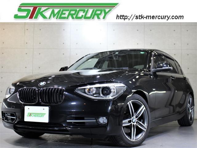 BMW 120i スポーツ 純正HDDナビ パワーシート コンフォートアクセス ETC Bluetooth 取説 記録簿 スペアキー3個有 純正17AW ドライビングモード アイドリングストップ