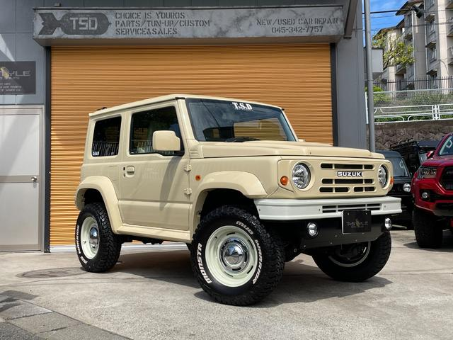 スズキ ジムニーシエラ JL 4WD 5MT DAMDルーツエアロ 1.5インチアップサス ショックアブソーバー 16インチAW マフラー ナビ ETC Bカメ スロコン シートカバー ドリンクホルダー フォーカルスピーカー