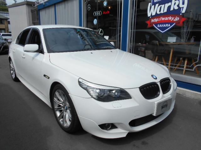 BMW 525i Mスポーツパッケージ 純正HDDナビ・Bカメラ・ETC・ドライバ・ハーフレザーシート・パワーシート・バックドアオープナー・純正18AW