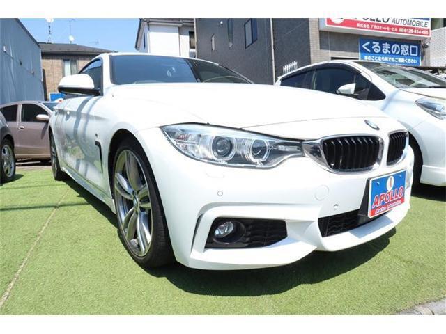 BMW 4シリーズ 428iグランクーペ Mスポーツ ワンオーナー 禁煙車 記録簿 ETC バックカメラ パワーシート 電動リアゲート LEDヘッドライト