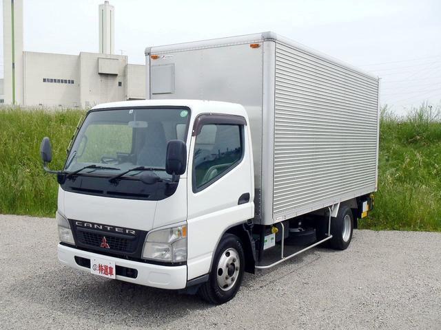 三菱ふそう キャンター  3トン パワーゲート付トラック パワーゲート付標準ロングアルミバン ディーゼル規制適合トラック 東京都乗り入れ可能 能力1tオートリターン跳ね上げ式パワーゲート付