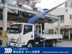 エルフトラック4段クレーン付平 ラジコン付 積載3トン