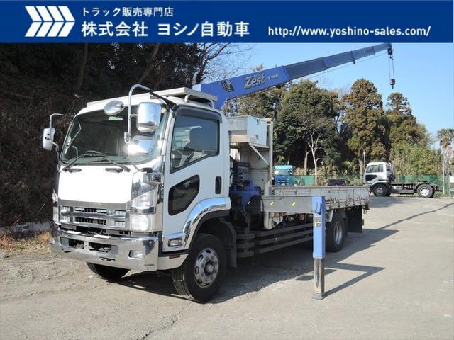 いすゞ いすゞ 増トン 5段 ラジコン クレーン付平