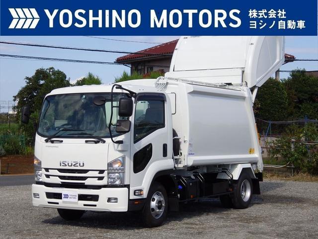 いすゞ 塵芥車 未使用 プレス式 8.7立米 連続スイッチ 汚水タンク 新明和製 210馬力 6MT 積載1.75t