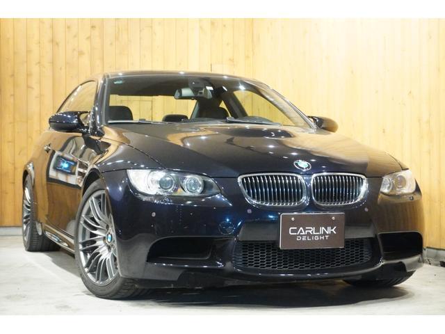 BMW M3クーペ ヘレスブラック 6速MT左ハンドル ヒーター付き黒革電動シート カーボンルーフ 純正18インチAW  純正HDDナビ HID クリアランスソナー キーレス ETC