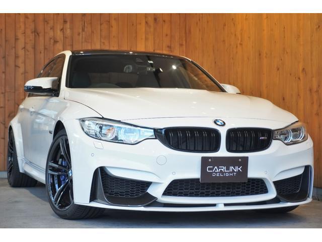 BMW M3 Mパフォエアロ  OP鍛造19AW アダプティブMサス パーキングサポートPKG カーボントリム インテリジェントセーフティ ヒーター/メモリー付黒革電動シート ナビ地デジBカメラ ドラレコ 禁煙