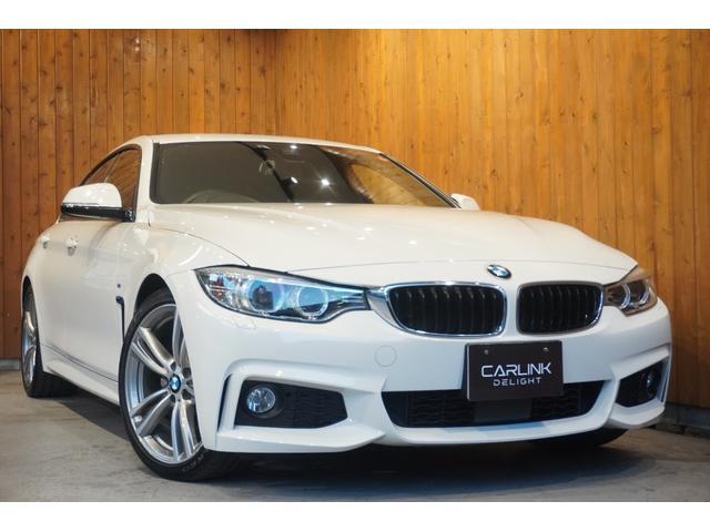 BMW 4シリーズ 420iグランクーペ Mスポーツ ヒーター付黒革電動シート 地デジTV ACC レーンディパーチャーアラート インテリンジェントセーフティ ナビ Bカメラ ETC 19インチAW コンフォートアクセス HIDライト 禁煙車 車検整備付