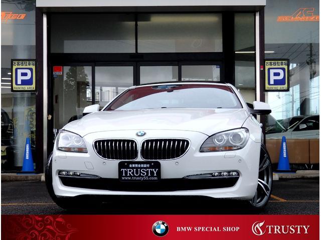 BMW 640iクーペ ガラスSR 新品20AW 黒本革 記録簿5枚