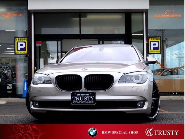 BMW 750i レグザーニ22AW SR 黒本革 地デジ 1年保証