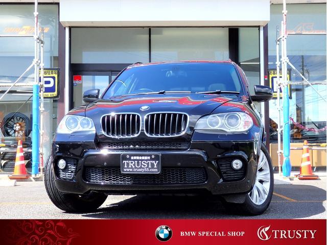BMW X5 xDrive 35i Mスポーツパッケージ 後期8AT 純正19インチAW パノラマサンルーフ ブラックレザー スポーツシート スポーツステアリング スマートキー HDDナビ フルセグ DVD Mサーバー LEDイカリング 記録簿6枚 1年保証