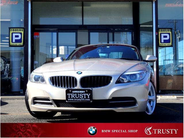 BMW Z4 sDrive20i 1オーナー車 後期2Lターボエンジン 8速AT 純正17インチAW 社外フルセグ HDDナビ CD DVD MSV AUX ETC バックカメラ パドルシフト バイキセノン 記録簿 2年保証