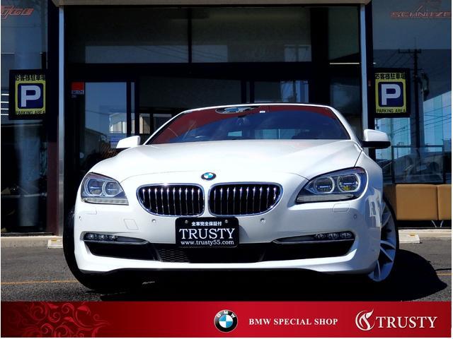 BMW 640iカブリオレ 新品タイヤ交換 ブラウンレザー LEDヘッドライト 純正OP19AW HDDナビ フルセグTV Mサーバー ETC Bカメラ PDC スマートキー シートヒーター メモリーパワーシート 1年保証