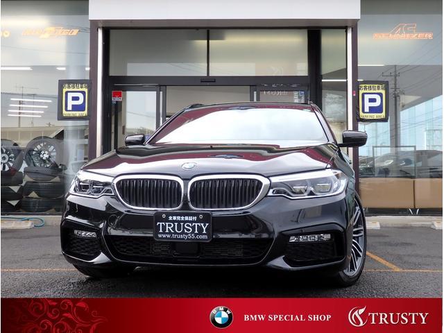 BMW 523dツーリング Mスポーツ ハイラインパッケージ 1オーナー ディーラー下取車 ドライビングアシストプラス LEDヘッドライト ブラックレザー HDDナビ DVD BTオーディオ スマートキー メモリーパワーシート シートヒーター 記録簿 1年保証