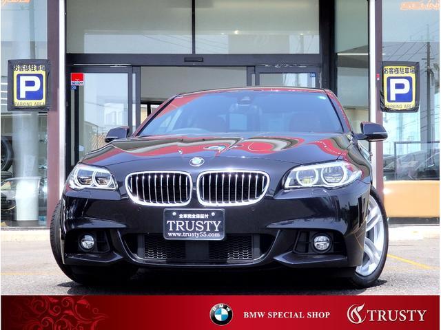 BMW 5シリーズ 523i Mスポーツ 1オーナー 最終型 ブラウンレザー LEDヘッドライト 自動追従 Dアシスト レーンチェンジアシスト 純正18AW 純正フルエアロ HDDナビ地図2019年版 ブルートゥース バックカメラ 1年保証