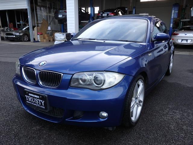 BMW 1シリーズ 130i Mスポーツ 1オーナー ディーラー下取 整備記録簿13枚 サンルーフ 純正18AW 純正フルエアロ ブラックレザー HDDナビ シートヒーター メモリーPシート パドルシフト マルチステア バイキセノン 1年保証