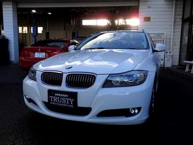 BMW 325iツーリング 後期型 直噴3Lエンジン アイボリーレザー スマートキー HDDナビ フルセグ DVD Mサーバー CD AUX バイキセノン メモリーパワーシート シートヒーター マルチステア 1年保証