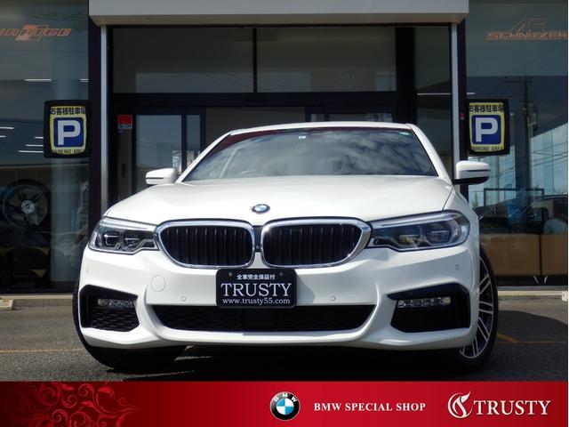 BMW 5シリーズ 523d Mスポーツ 1オーナー車 ドライビングアシストプラス 純正19インチAW 純正フルエアロ HDDナビ フルセグ 全周囲カメラ LEDヘッドライト メモリーパワーシート スマートキー リアフィルム 記録簿 1年保証