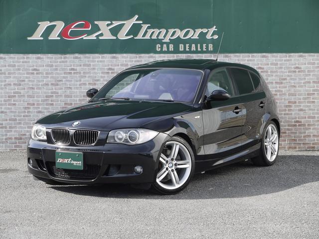BMW 1シリーズ 130i Mスポーツ 6MT ブラックレザーシート シートヒーター メモリー機能付きパワーシート サンルーフ 18AW プロジェクターHIDヘッドライト ETC PDC CD MD AUX プッシュスタート