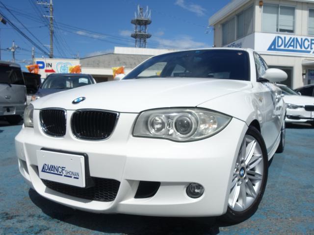 BMW 1シリーズ 120i 禁煙車 社外DVDナビ CD・DVD再生 キーレス ETC パワーシート オートエアコン オートライト HIDヘッドライト 純正17インチアルミ