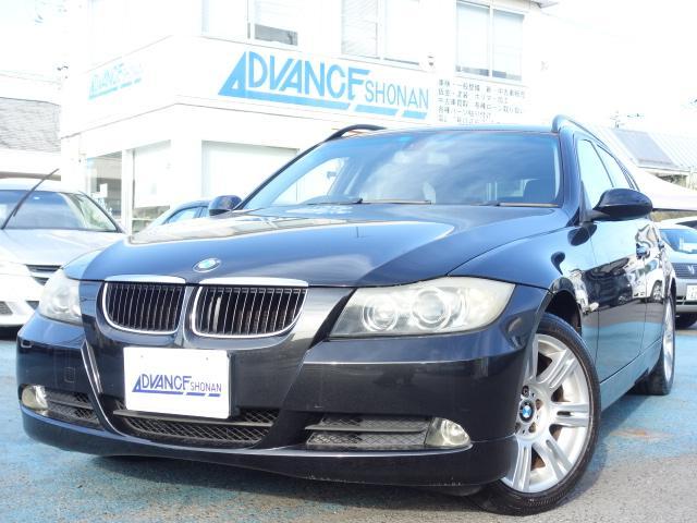 BMW 320iツーリング ハイラインパッケージ 社外HDDナビ キーレス ETC バックカメラ レザーシート パワーシート シートヒーター HIDヘッドライト 純正17インチアルミ CD・DVD再生 録音機能 AUX接続