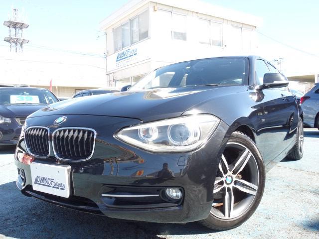 BMW 116i スポーツ 禁煙車 純正HDDナビ Bluetooth対応 フルセグTV スマートキー ETC バックカメラ アイドリングストップ 純正17インチアルミ HIDヘッドライト CD・DVD再生 録音機能