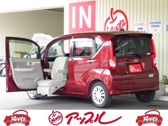ダイハツ 福祉車 フロントシートリフト 車いす固定装置