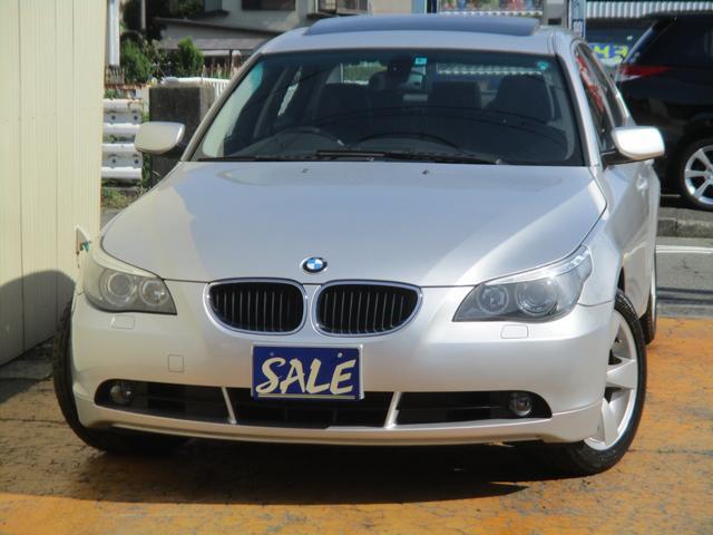 BMW 530i禁煙車HIDサンルーフ黒本革純DVDナビETC記録簿