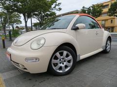 VW ニュービートルカブリオレプラス 社外オレンジ幌 走行47,022キロ