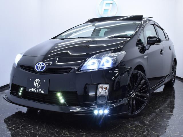 トヨタ Gサンルーフ LED付新品フルエアロ ブラックレザーカスタム