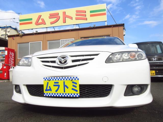 マツダ アテンザスポーツワゴン 23S 5速マニュアル車 DVDナビ 純正オーディオ ETC HIDライト フォグライト 革ハンドル