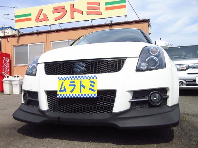 スズキ スイフト スポーツ 5速マニュアル車 スマートキー レイズ17インチAW 車高調 社外マフラー HDDナビ地デジTV