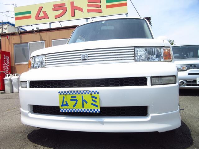 トヨタ bB Z HIDセレクションII 後期型 純正ナビ 後席モニター ETC 社外17インチAW フルエアロ HID&フォグライト