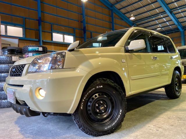 日産 X 4WD 純正サンドカーキ スチールホイール BFグッドリッチAT
