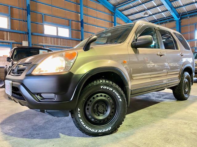 ホンダ CR-V フルマークiG 4WD 純正ブラウン 走行6.3万キロ マットスチール トーヨーオープンカントリー新品装着