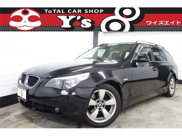 BMW 5シリーズ 525iツーリング ツインルーフ 黒革 HD...