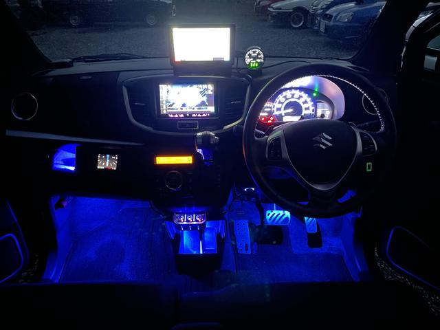 スズキ T TEIN車高調 HKSマフラー 社外15インチアルミ 室内イルミ スエード調パネル レーダーブレーキ