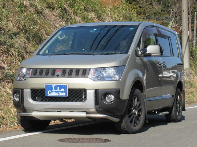 三菱 デリカD:5 G プレミアム 切り替え4WD 両側パワースライド ロックフォードスピーカー パワーバックドア 8人乗り キーフリー ナビ フロント サイド バックカメラ フロント リア アンダーガード 外AWスタッドレス 1年保証