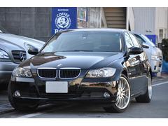 BMW320i 黒革シート社外HDDナビ 18インチAW