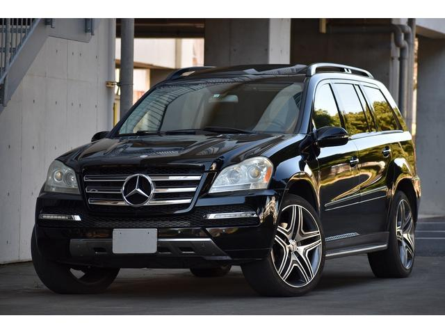 メルセデス・ベンツ GLクラス  GL450 グランドエディションフロントバンパー サンルーフ 黒革 社外ナビ フルセグ バックカメラ 社外22インチアルミ 管理ユーザー様下取り車 整備記録簿