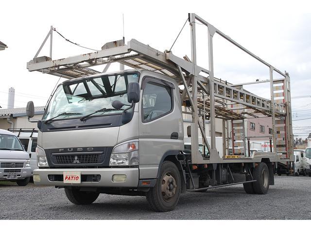 三菱ふそう 3台積み積載車 細谷車体