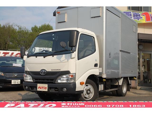 トヨタ アルミバン ショート 積載2t バックカメラ 2段ラッシング