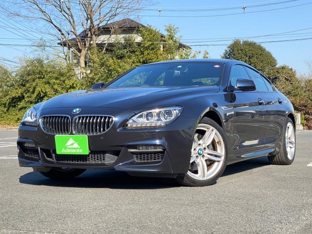 BMW 6シリーズ 640iグランクーペ Mスポーツパッケージ 純正ナビ・地デジ・バックカメラ・スマートキー・プッシュスタート・サンルーフ・ハーフレザー・LEDヘッドライト・19inアルミ・パワーシート・シートヒーター・アイドリングストップ